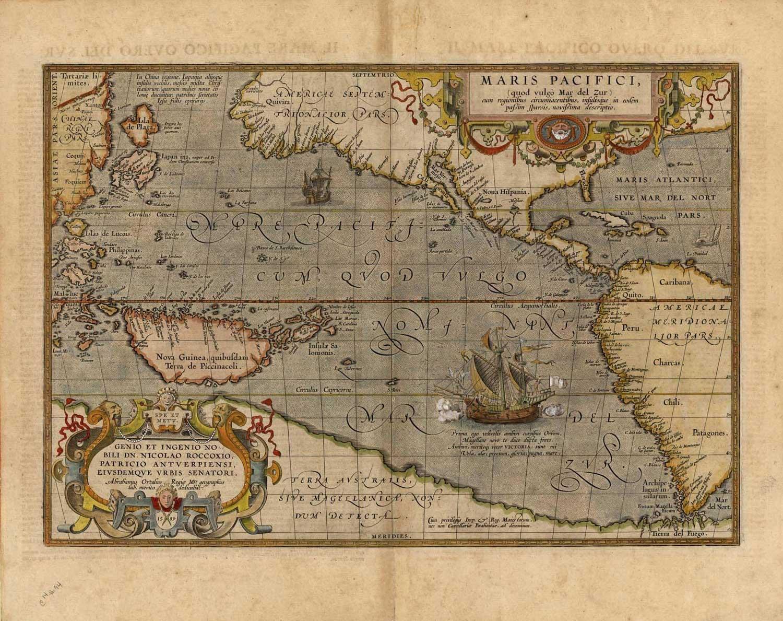 Lithograph - Abraham Ortelius 1589