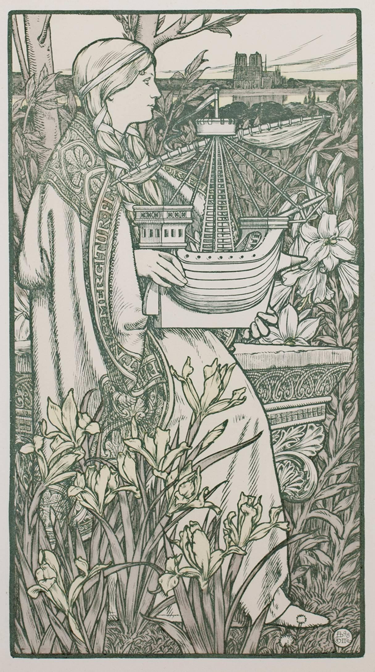 Lithograph - Adolphe Giraldon 1898
