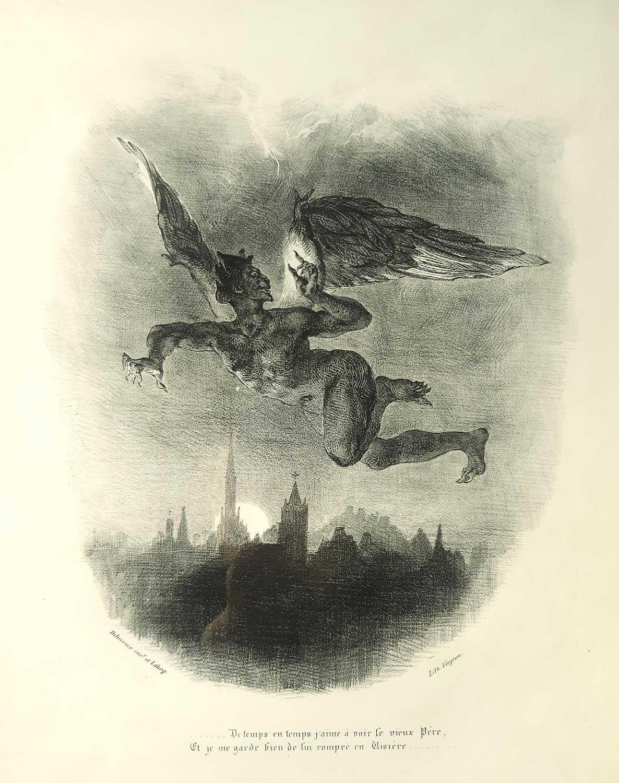 Lithograph - Eugene Delacroix 1828