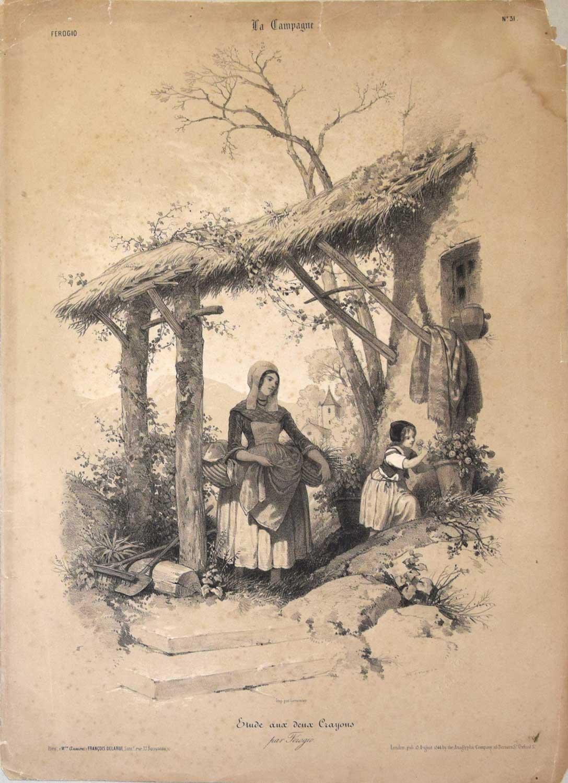 Lithograph - Francois Ferogio 1844