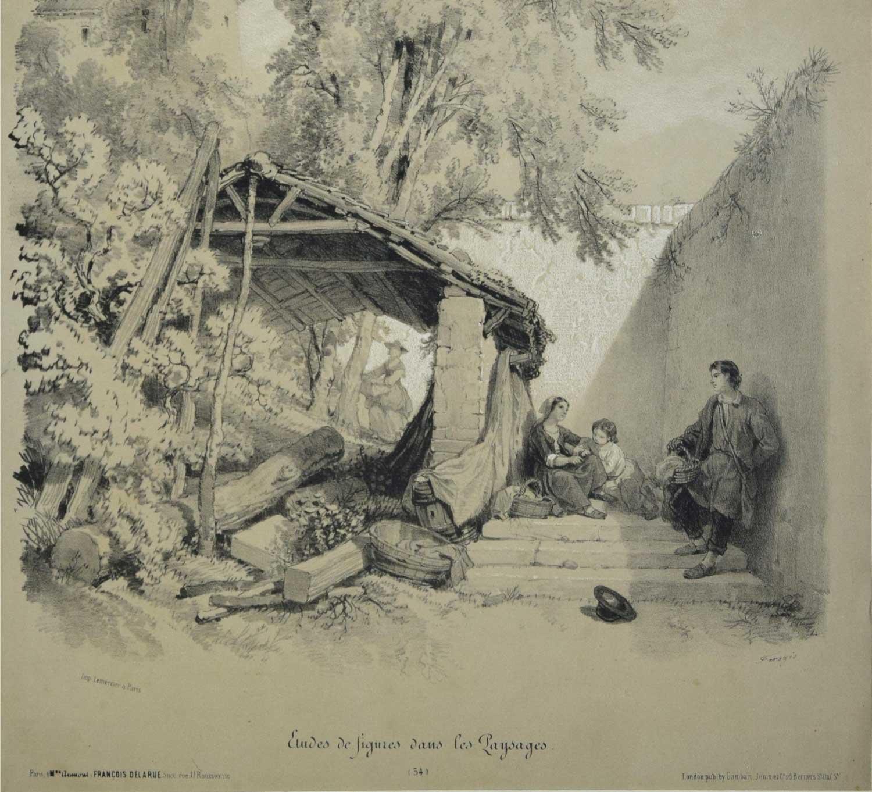 Lithograph - Francois Ferogio 1845