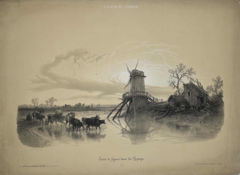 Lithograph - Francois Ferogio 1850s