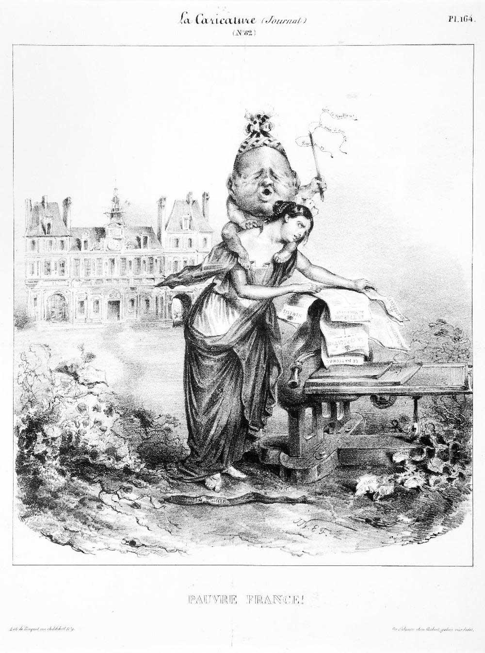 Lithograph - J.J. Grandville 1831