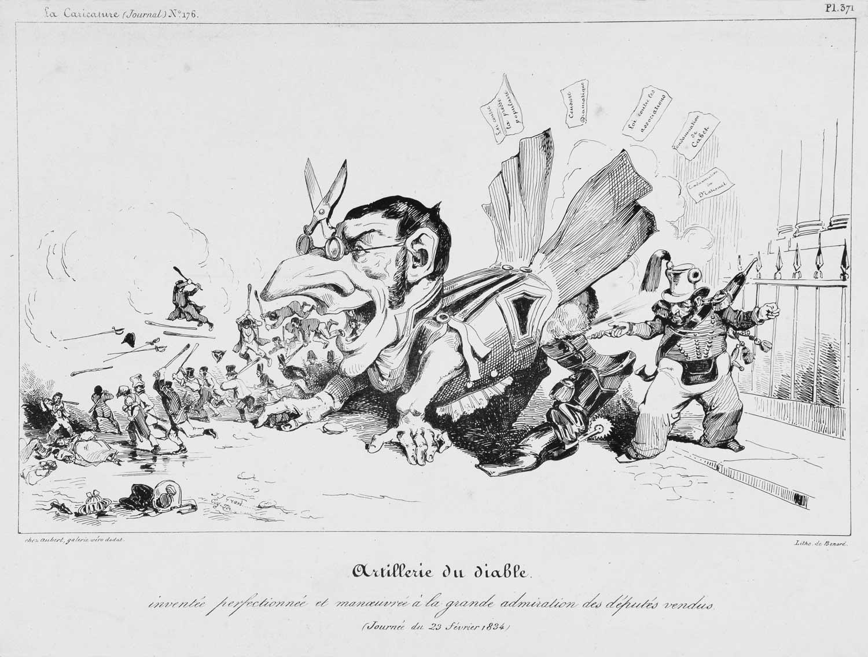 Lithograph - J.J. Grandville 1834