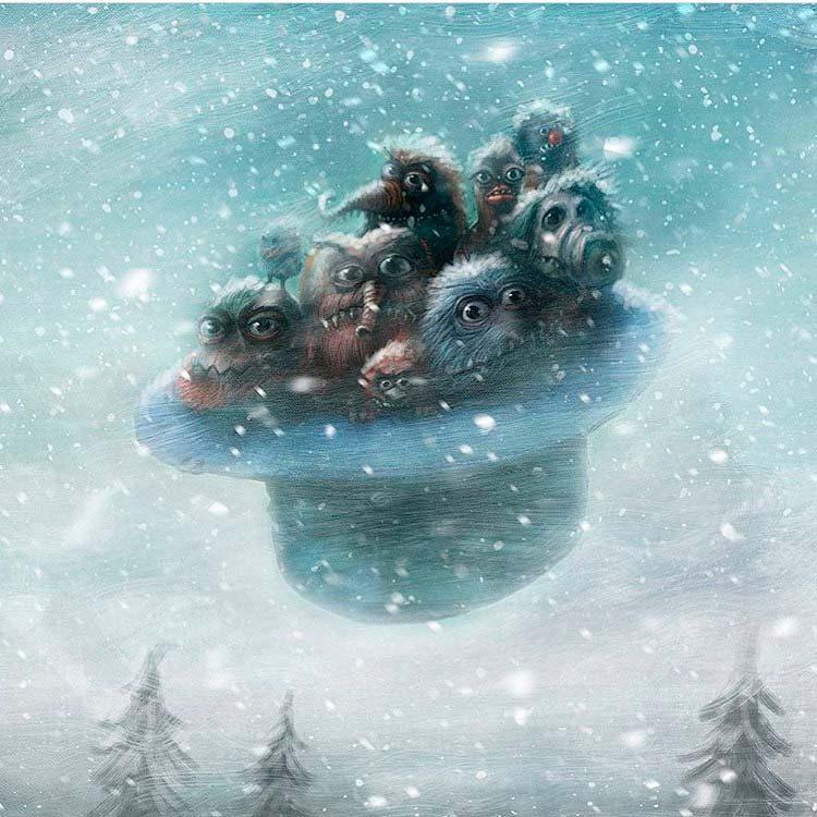 Alexander Jansson - Монстры в летающей шапке - зимняя версия