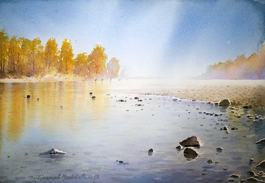 Бранислав Маркович Умбра - Осень на берегу Дуная