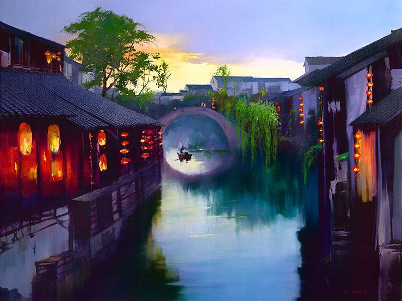 Ken Hong Leung - Закат в древней деревне