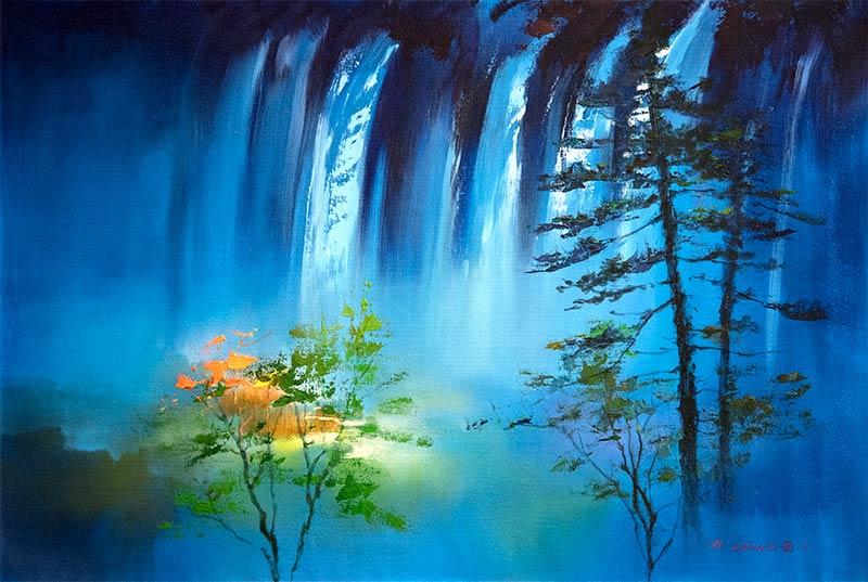 Ken Hong Leung - Голубые водопады